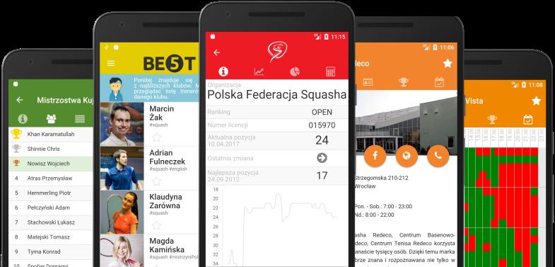 Aplikacja mobilna squash